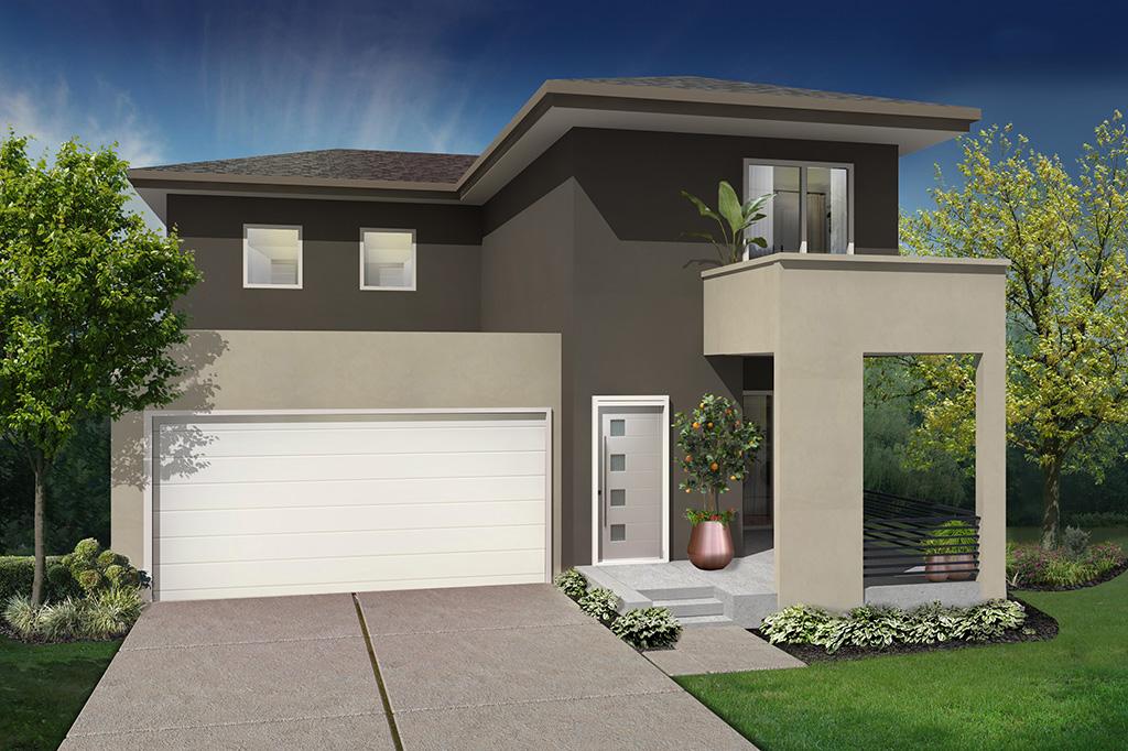3D Contemporary Exterior Residential Rendering   Kemp3D