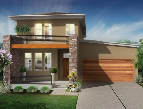 3D Contemporary Exterior Residential Rendering