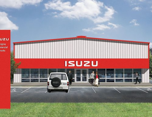 2D Commercial Rendering: Isuzu Dealership